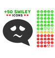 sadness smiley message icon with bonus emotion vector image