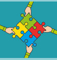 teamwork business concept vector image