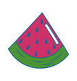 watermelon fruit food vector image