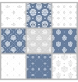 Victorian pattern white baroque wallpaper vector image