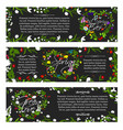 greeting banners of spring season flowers vector image