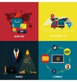Icons for e-commerce delivery online shopoing vector image