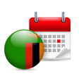 Icon of National Day in Zambia vector image