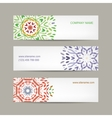 Set of abstract banners design Ornate background vector image