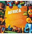 Postcard of flat design african icons and vector image