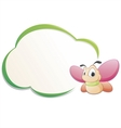 cute cartoon butterfly with frame vector image