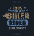 Biker badge with texture vector image
