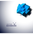 Abstract background with overlapping blue cubes vector image