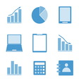 Business color icon set on white background vector image