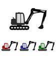 excavator icon vector image