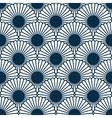 Japanese style chrysanthemum seamles pattern vector image