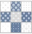 Victorian pattern white baroque wallpaper vector image