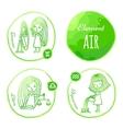 Zodiac element air vector image