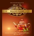 Black tea banner vector image