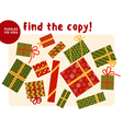 Christmas colorful gift box set in traditional vector image