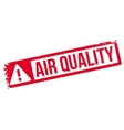 Air Quality rubber stamp vector image