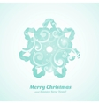Christmas tree with ornaments vector image