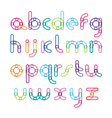 font from an inking with effect of transparency vector image