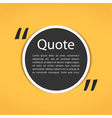Round Text Box with Quotes vector image vector image