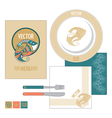 restaurant set with decorative fish vector image vector image