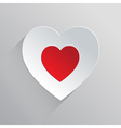Beautiful Flat Heart Icon vector image