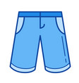 bermuda shorts line icon vector image