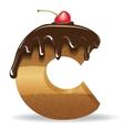 Cake letter C- birthday font vector image