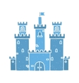 Cartoon castle isolated blue vector image