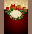 christmas festive background image vector image
