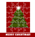 Christmas greeting in puzzle style vector image