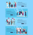 corporate party set of four on vector image