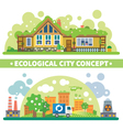 Ecological city concept vector image