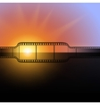 film strip against the flash of light background vector image
