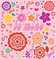 floral ornamental valentine print vector image