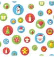 Seamless pattern with christmas icons vector image