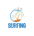 surfing design template vector image