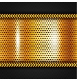 Golden metallic surface vector image