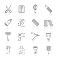 barber and Hair Salon icons vector image