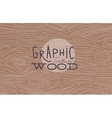 Graphic wood texture brown vector image