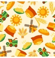 Seamless pattern with agricultural objects vector image