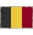 Belgian grunge flag vector image vector image