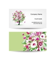 Business card template design Floral tree vector image