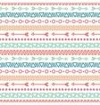 Hand drawn geometric ethnic seamless pattern vector image