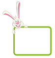label frame rabbit vector image vector image