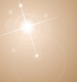 abstract star with lenses flare vector image