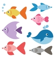 Set of colorful fishes vector image vector image