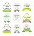 Cotton certificates labels set vector image