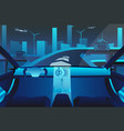 autonomous self driving car on the road vector image