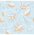 Autumn blue seamless pattern vector image