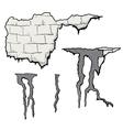 broken wall vector image